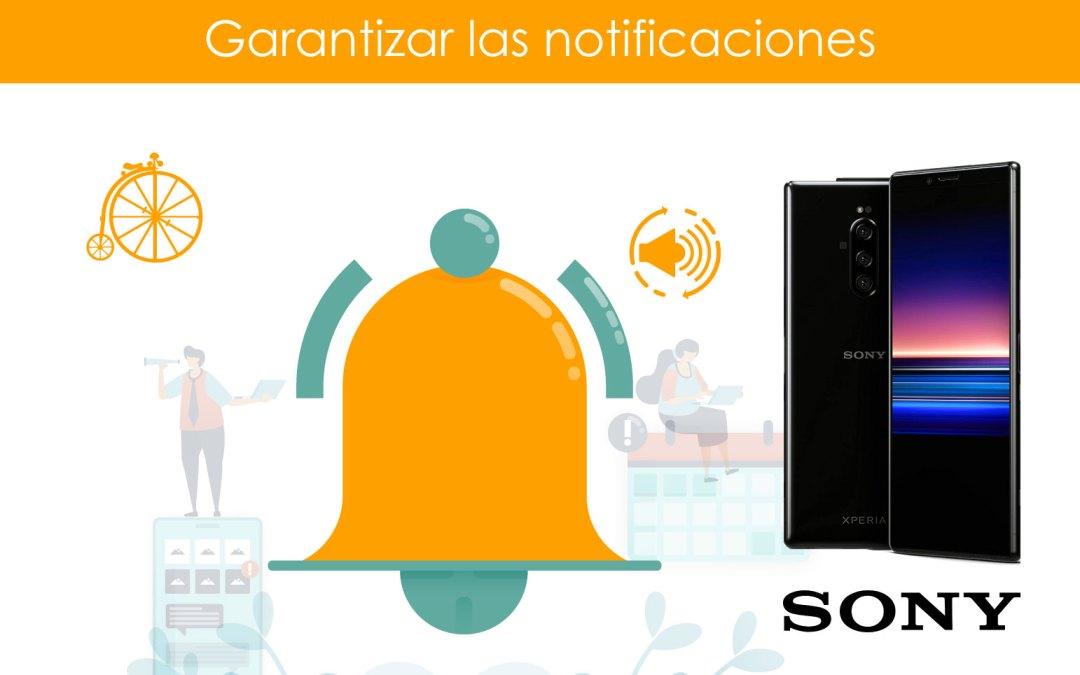 Garantizar notificaciones en teléfonos SONY