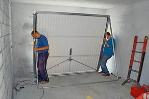 Installasjon av løfteportene