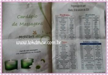 Cardápio de Massagens