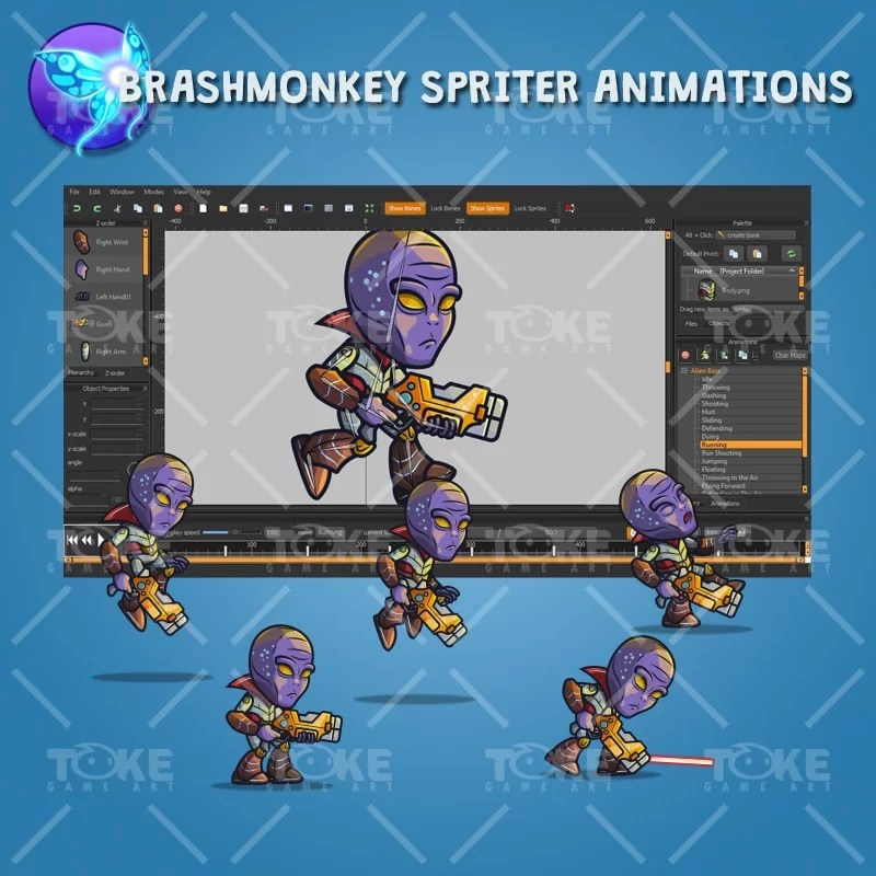 Alien Boss - Brashmonkey Spriter Animation