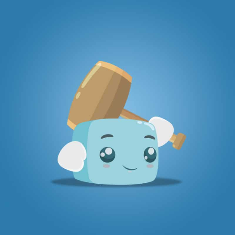 Boky The Cute Cube - Free 2D Character Sprite