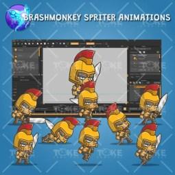 Chibi Knight Golden Helmet - Brashmonkey Spriter Animation