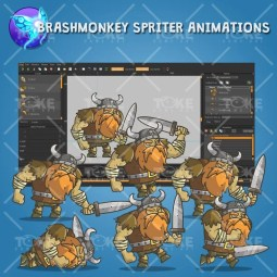 Chibi Muscular Viking - Brashmonkey Spriter Animation