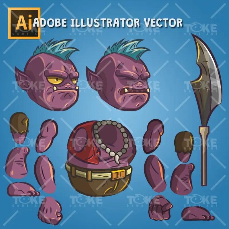 Dungeon Guard - Adobe Illustrator Vector Art Based