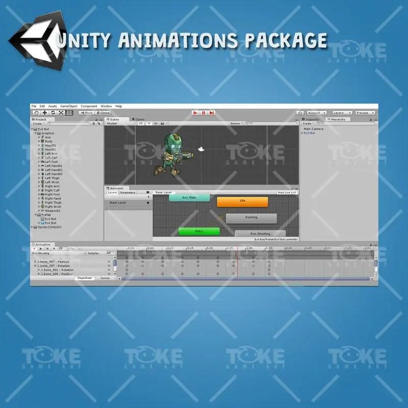 Evil Bot - Unity Animation Ready