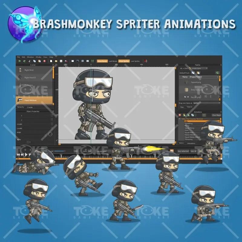 Mike - Brashmonkey Spriter Animation