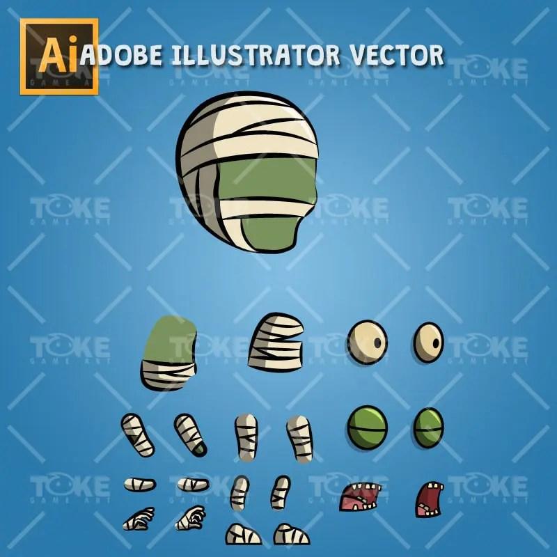 Mummy - Adobe Illustrator Vector Art Based