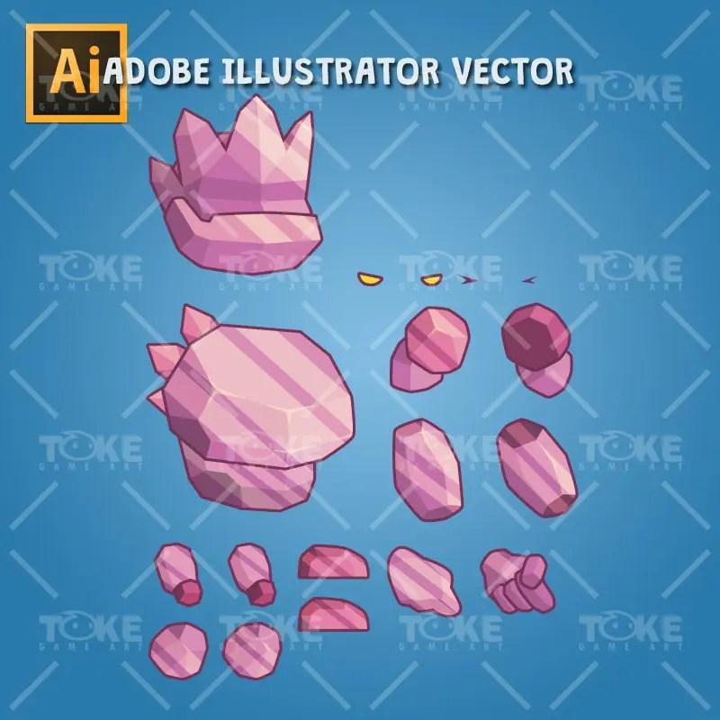 Tiny Crystal Monster – Adobe Illustrator Vector Art Based