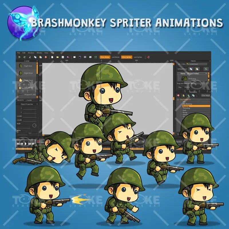 Tiny Chinese Soldier – Brashmonkey Spriter Animation