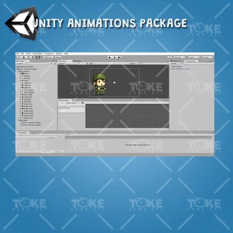 Tiny Chinese Soldier – Unity Animatoin Ready