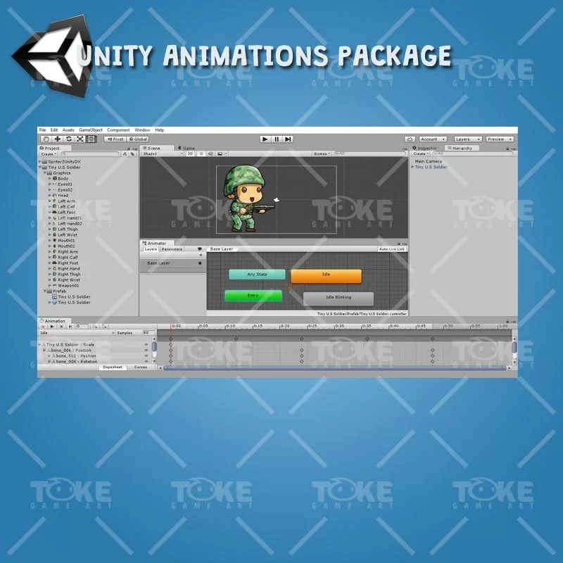 Tiny US Soldier – Unity Animatoin Ready