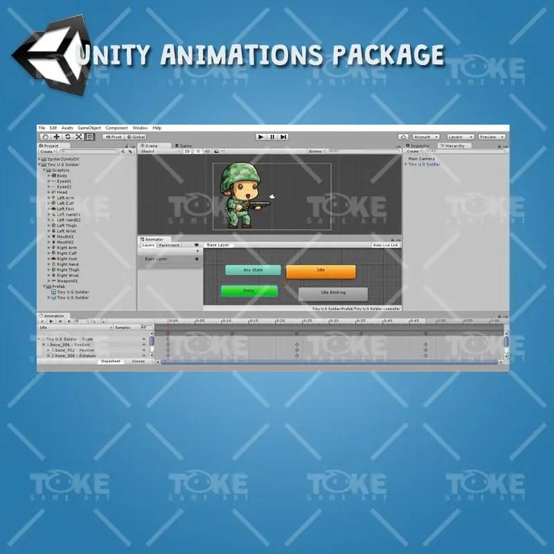 Tiny US Soldier – Unity Animatoin Ready