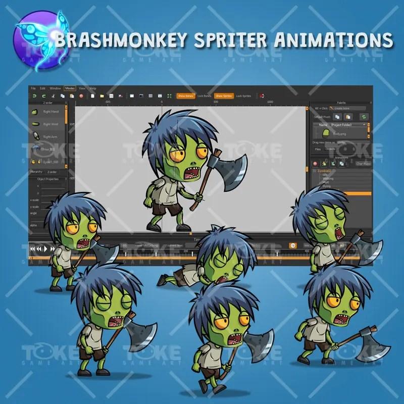 Anime Zombie - Brashmonkey Spriter Animation