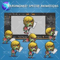 Meat Clever Zombie Wife – Brashmonkey Spriter Animation