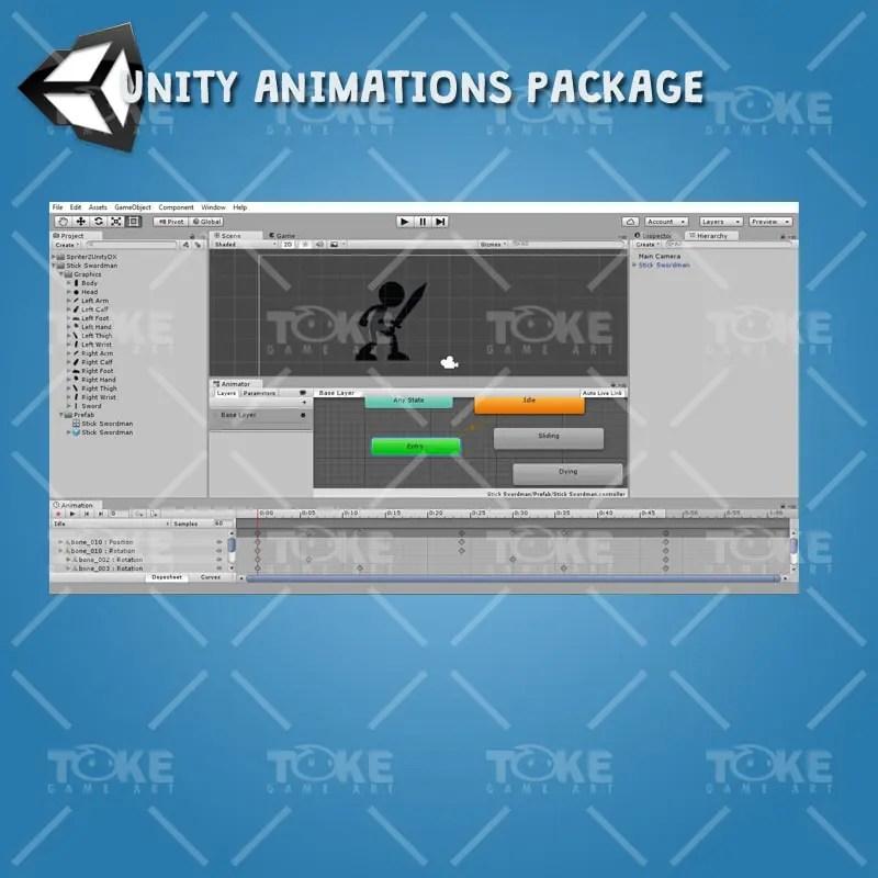 Stick Swordman - Free 2D Character Sprite - Unity Animation