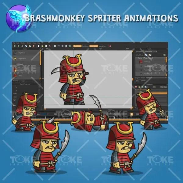 Tiny Armored Samurai - Brashmonkey Spriter Animation