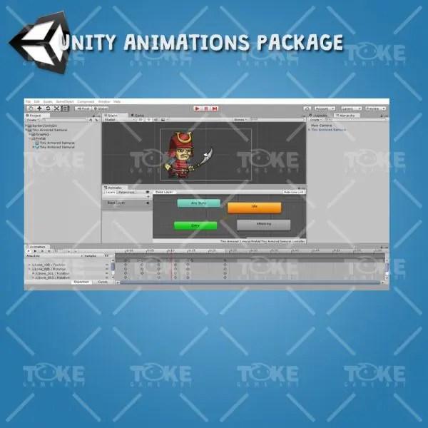 Tiny Armored Samurai - Unity Animation Ready