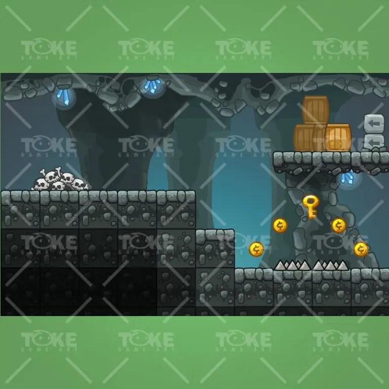 Cartoon Cave Platformer Tileset - Preview 2