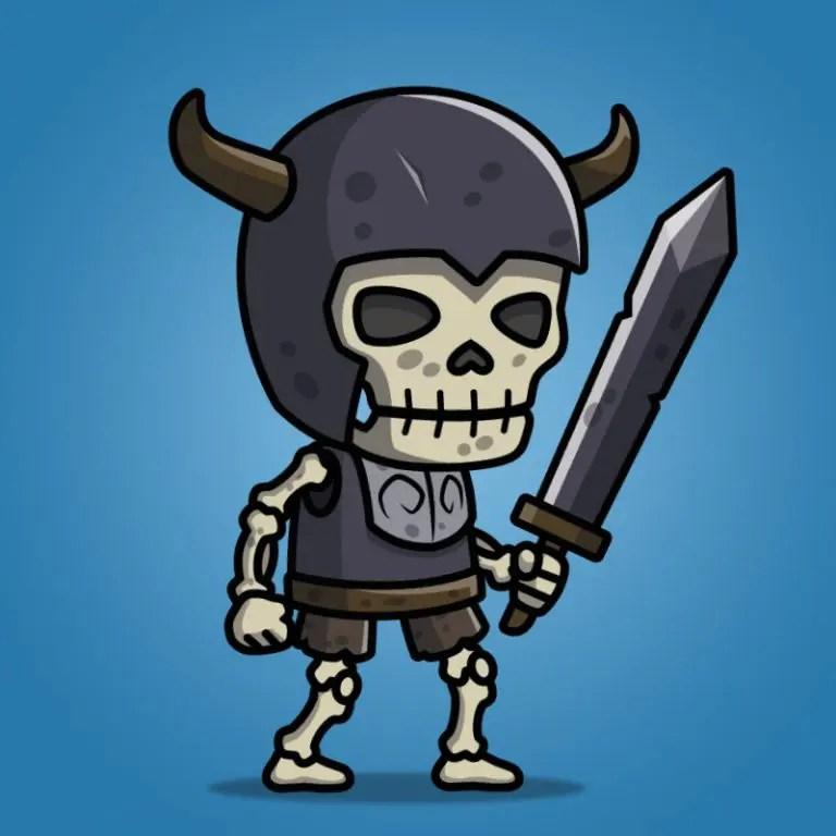 Skull Knight - 2D Character Sprite