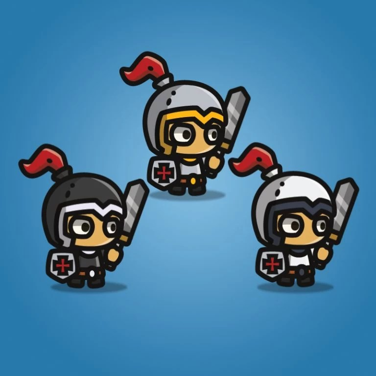 Tiny Character Sprite - Knight - 2D Character Sprite