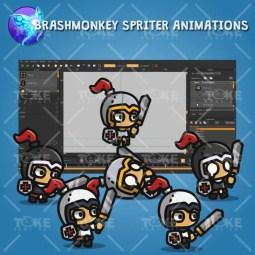 Tiny Character Sprite - Knight - Brashmonkey Spriter Animation
