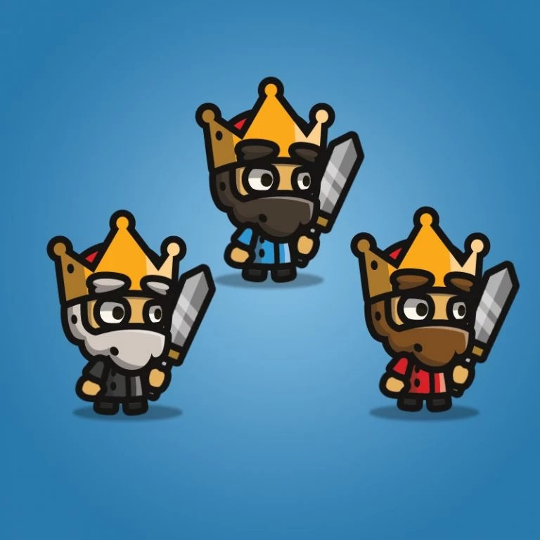 Tiny Style Character - King - 2D Character Sprite