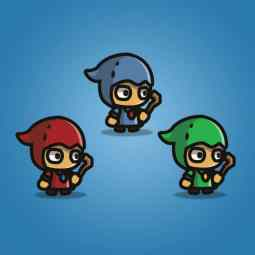 Tiny Style Character - Witcher - 2D Character Sprite