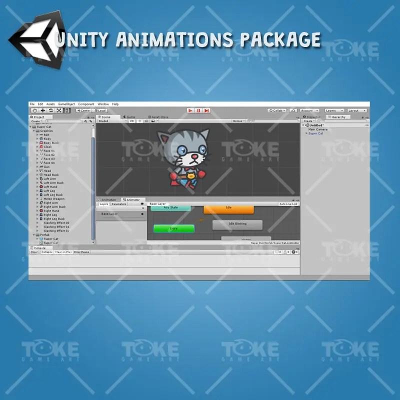 Super Cat - Unity Animation Ready
