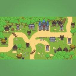 Top-down Forest Tileset - 2D Top-down Game Tileset