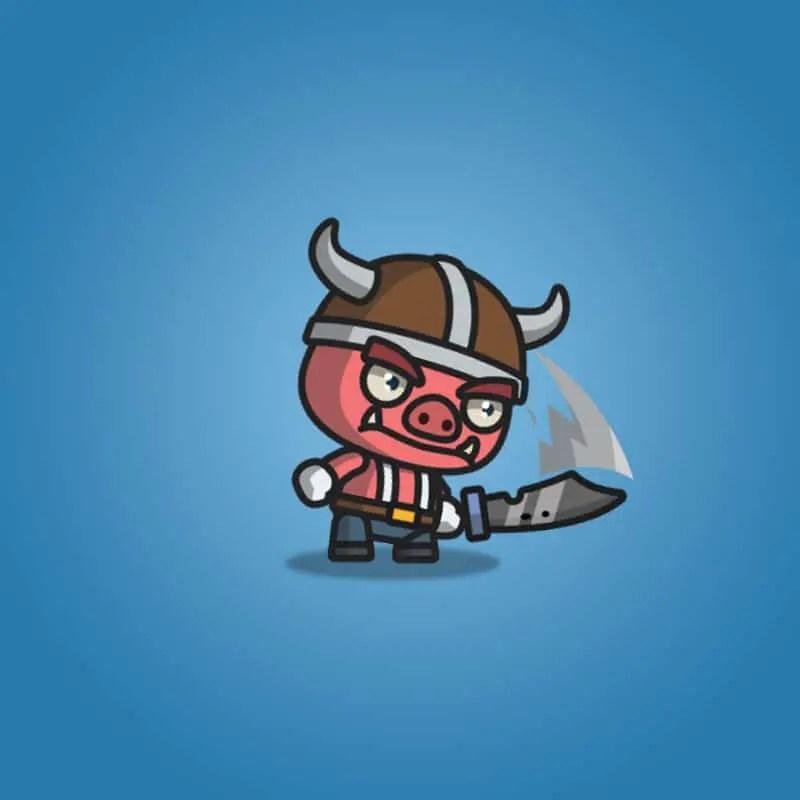 Bad Piggy - 2D Character Sprite