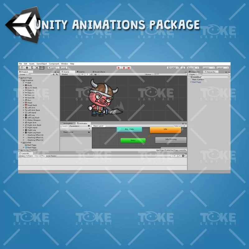 Bad Piggy - Unity Animation Ready