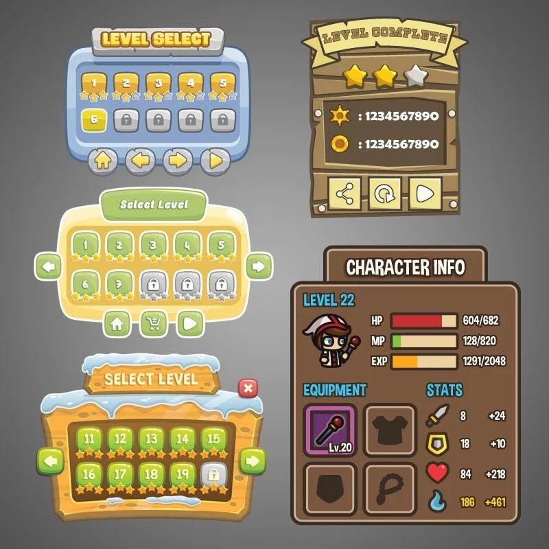 Graphical User Interface - TokeGameArt Bundle