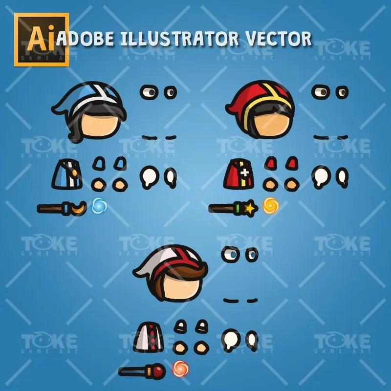Priest - Tiny Style Character - Adobe Illsutrator Vector Art Based