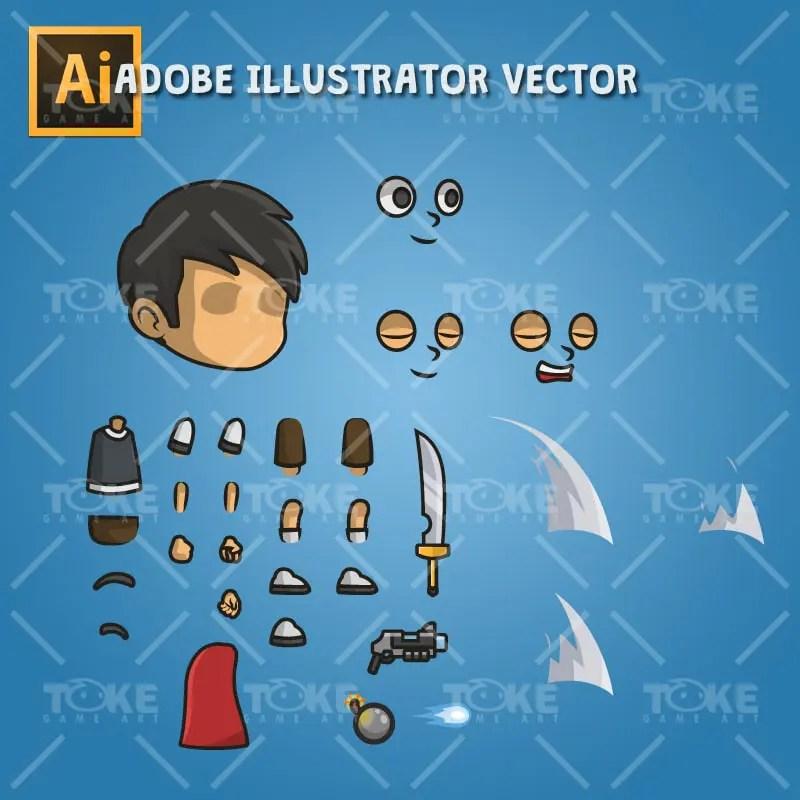 Super Boy - Adobe Illustrator Vector Art Based