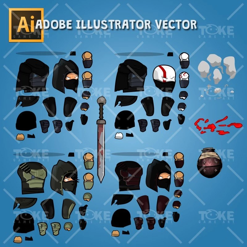 Dark Thief - Adobe Illustrator Vector Art Based