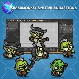 Goblin Tiny Style Character - Brashmonkey Spriter Animation