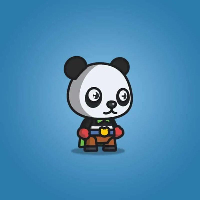 Super Panda - 2D Character Sprite