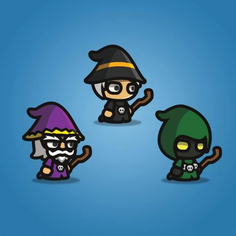 Wizard Tiny Style Character - 2D Character Sprite
