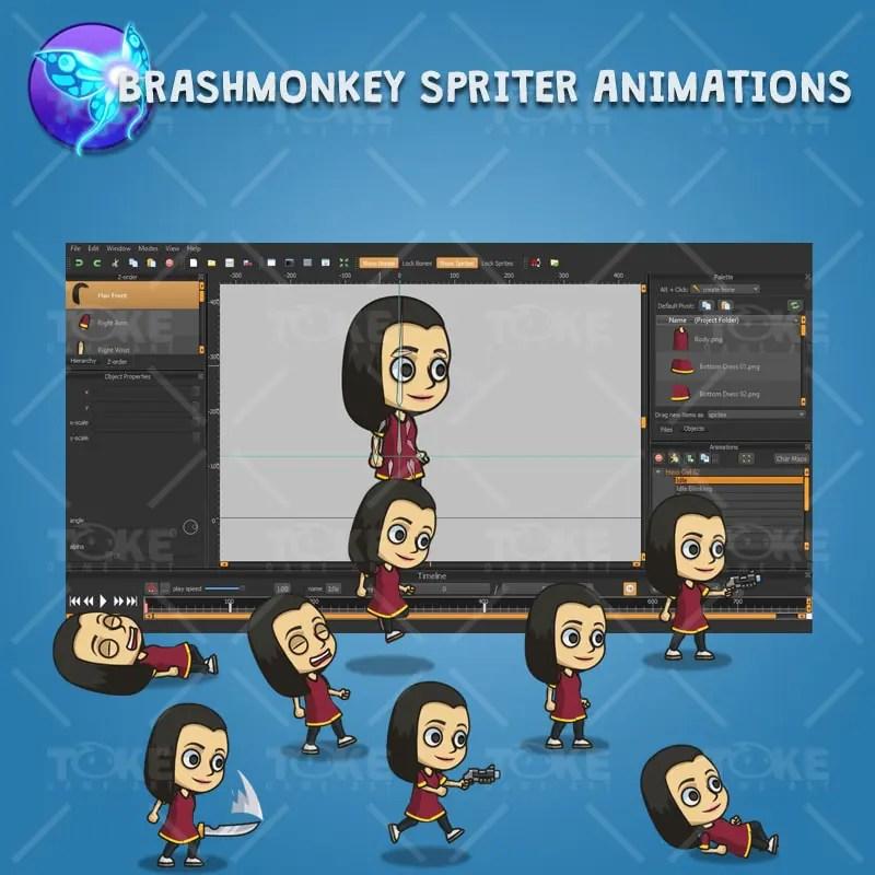 Hero Girl 02 - Brashmonkey Spriter Animation