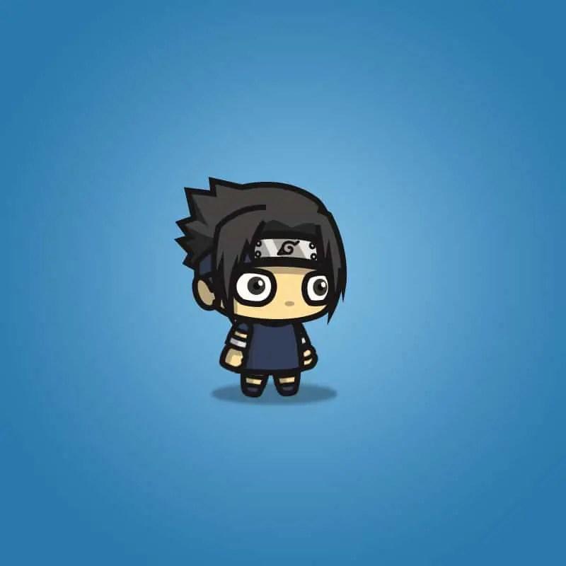 blue shirt shinobi