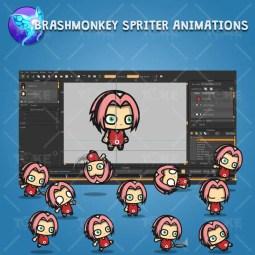 Shinobi 03 - (Sakura Harno) - Brashmonkey Spriter Animation