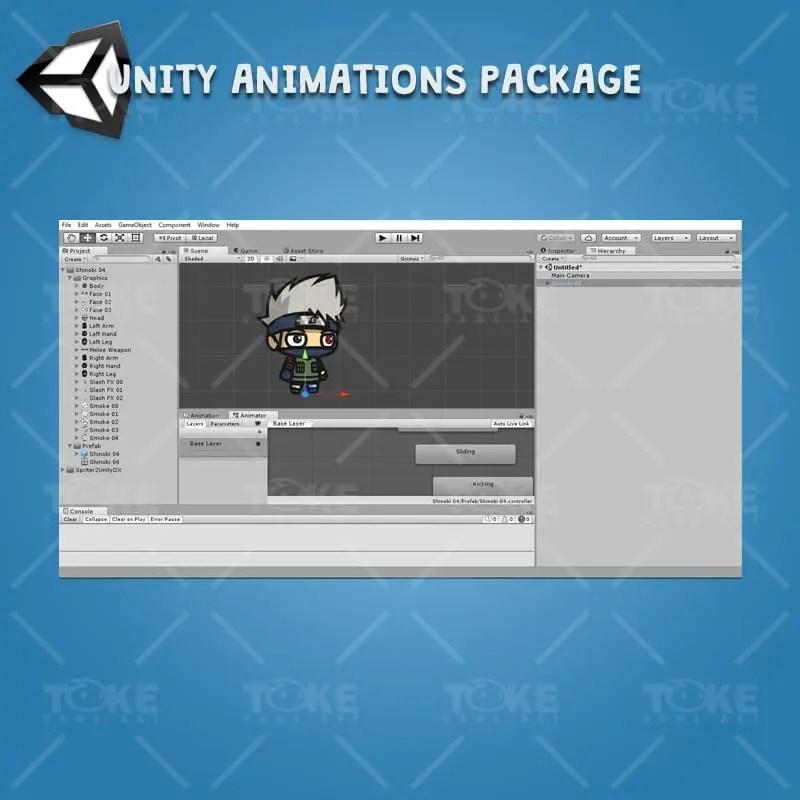 Shinobi 04 - Kakashi Hatake - Unity Animation Ready