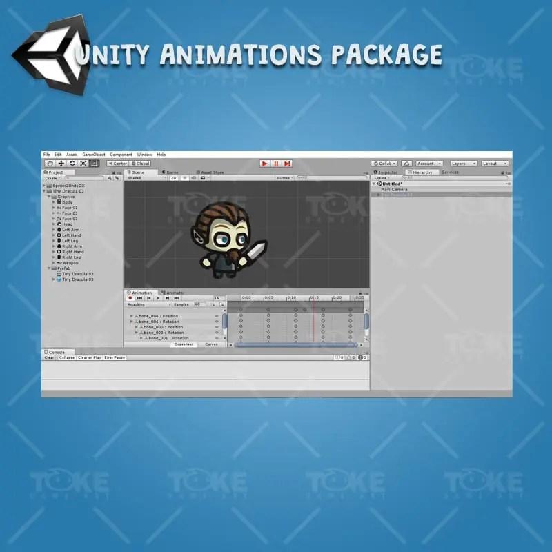 Dracula Tiny Style - Unity Animation Ready
