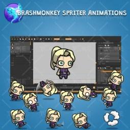 Blonde Shinobi Girl - Brashmonkey Spriter Animation