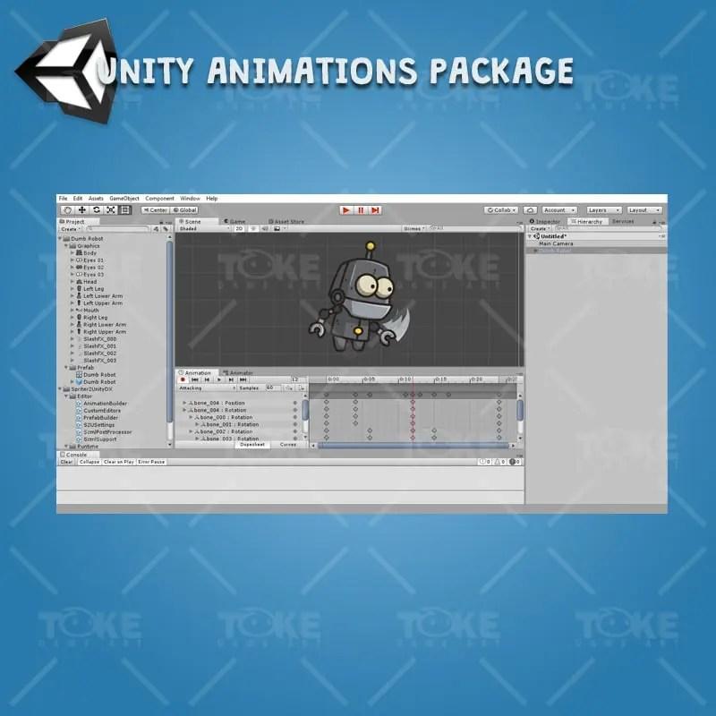 Dumb Robot - Unity Animation Ready