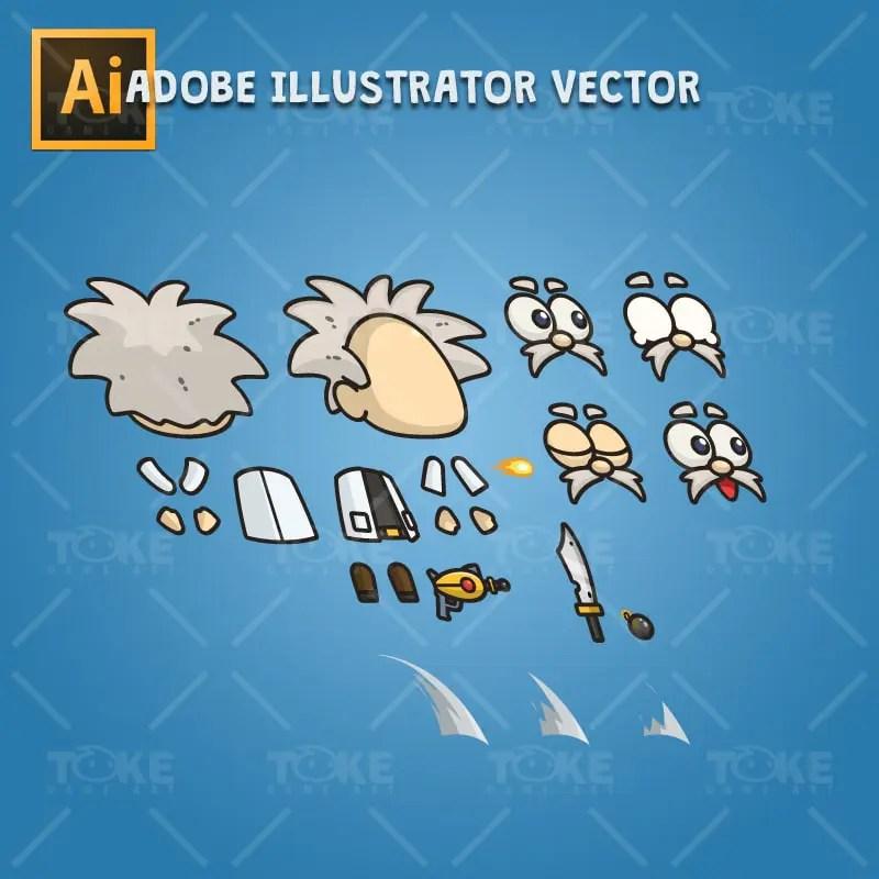 Professor X - Adobe Illustrator Vector Art Based