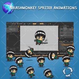 Bangs Hair Shinobi - Brashmonkey Spriter Character Animation