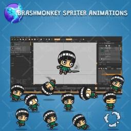 Bangs Hair Shinobi - Brashmonkey Spriter Character Animation