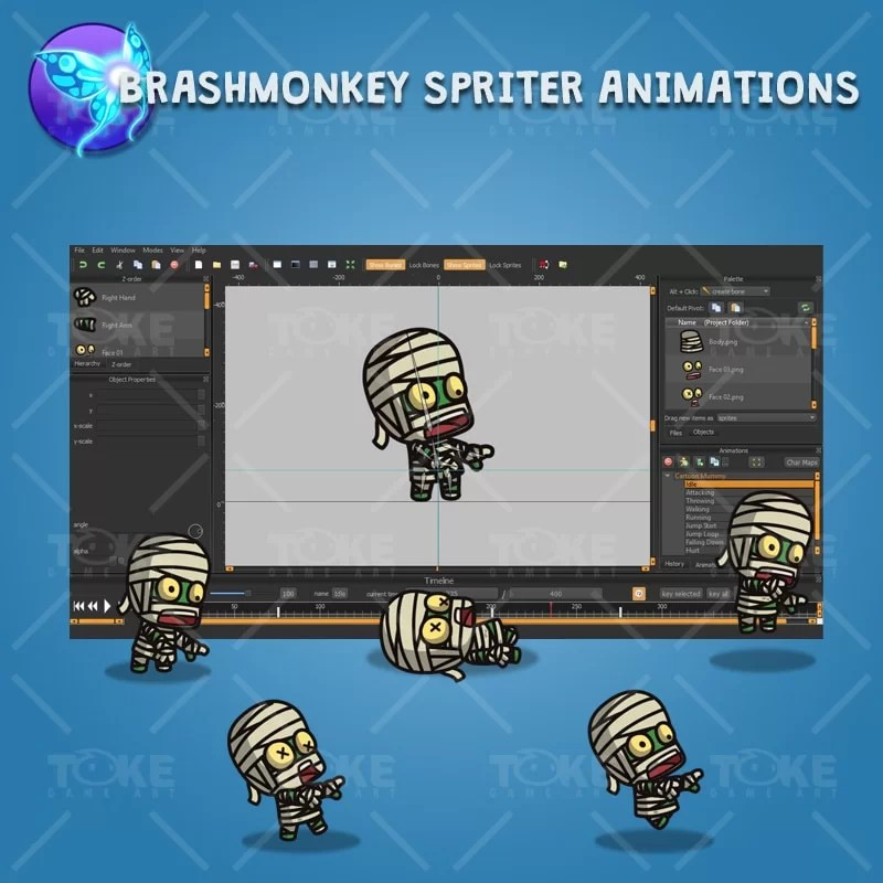 Cartoon Mummy - Brashmonkey Spriter Character Animation