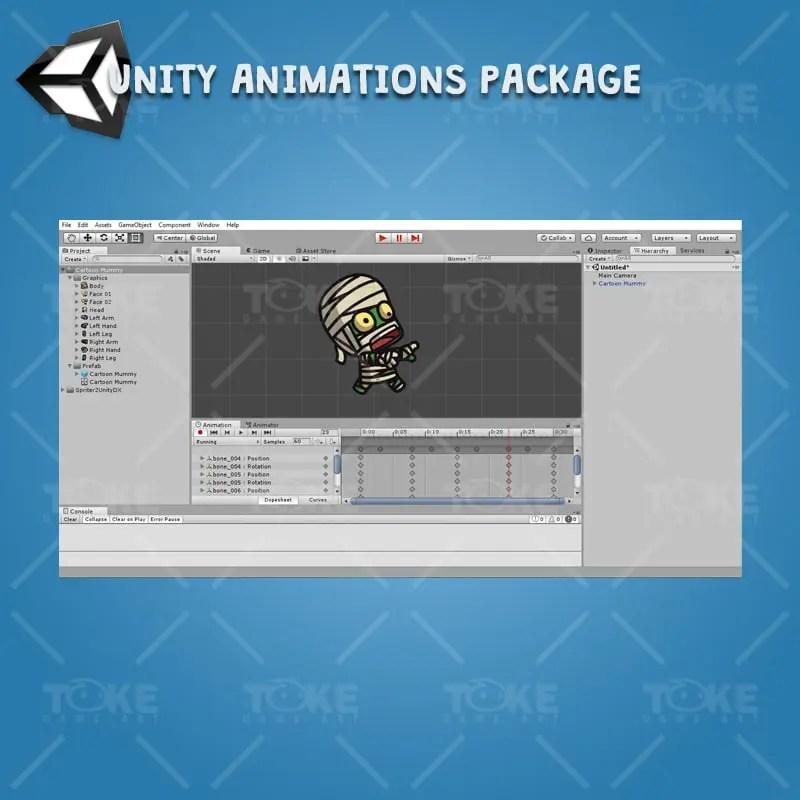 Cartoon Mummy - Unity Character Animation Ready